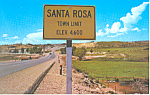 Click here to enlarge image and see more about item p19024: Santa Rosa, NM on Route 66 Postcard p19024