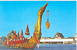 Click here to enlarge image and see more about item p19051: The Royal Barge Bangkok Thailand Postcard p19051