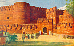 Click here to enlarge image and see more about item p19056: Amar Sing Gate Agra Fort Agra India Postcard p19056