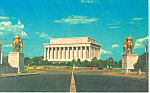 Lincoln Memorial Washington DC Postcard p19067