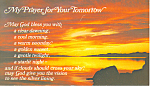 Click here to enlarge image and see more about item p19076: My Prayer for Your Tomorrow Schuller Postcard p19076
