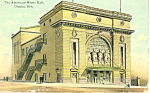 The American Music Hall, Omaha, NE Postcard 1912