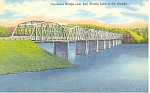 Click here to enlarge image and see more about item p19098: Theodasia Bridge Bull Shoals Lake MO Postcard p19098