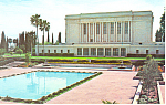 Click here to enlarge image and see more about item p19104: LDS Mormon Temple, Mesa, Arizona, North View Postcard
