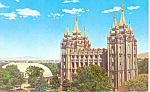 Temple Square Salt Lake City Utah Postcard p19109