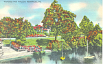 Riverside Park Pavillion Indianapolis IN Postcard p19114
