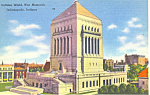 World War Memorial Indianapolis IN Postcard p19115