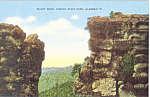 Pulpit Rock Cheaha State Park Alabama Postcard p19116