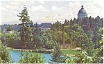 Washington State Capitol and Mt Rainier Postcard p1913