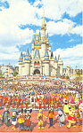 Walt Disney World Florida Cinderella Castle Postcard p19141 1984