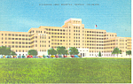 Click here to enlarge image and see more about item p19148: Army Hospital Denver Colorado Linen Postcard p19148