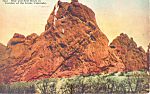 Click here to enlarge image and see more about item p19156: Bear and Seal Rock Garden Of The Gods Colorado Postcard p19156