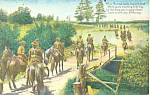 US Calvary Troops on Horseback Postcard