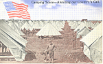 US Army Troops Camping Scene Postcard