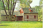 Click here to enlarge image and see more about item p19182: Daniel Boone Cabin,Baumstown,PA Postcard