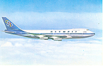 Olympic Airways Boeing 747 Postcard p19208