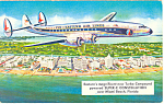 Click here to enlarge image and see more about item p19210: Super C Constellation Eastern Airlines Issue Postcard p19210