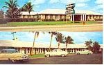 White Caps Motel,Rivera Beach, FL Postcard Cars 50s