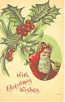 With Christmas Wishes Postcard p19255