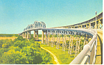 Click here to enlarge image and see more about item p19268: Huey P Long Bridge New Orleans LA Postcard p19268