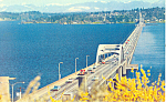 Lake Washington Floating Bridge, Washington Postcard