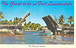 Bridge New River Ft Lauderdale FL Postcard p19274