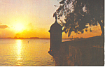 Click here to enlarge image and see more about item p19282: Beautiful Sunset San Juan  Puerto Rico Postcard p19282