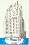Hotel Piccadilly  New York City NY Postcard p19296