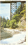 Railroad Bridge Glen Gorge New York Postcard p19315