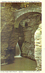 Entrance Cascade Watkins Glen New York Postcard p19317