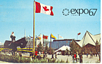 Click here to enlarge image and see more about item p19321: Ile de Norte Dame Expo 67 Montreal Postcard p19321