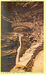 Central Cascade Watkins Glen New York Postcard p19326