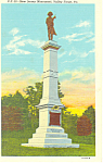 New Jersey Monument Valley Forge Pennsylvania Postcard p19329