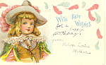 Vintage Birthday Postcard with Victorian Girl 1905