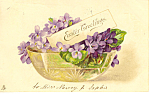 Click here to enlarge image and see more about item p19336: Easter Greetings Raphael Tuck Sons Postcard 1905