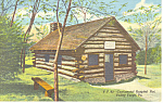 Continental Army Hospital Hut Valley Forge Postcard p19344