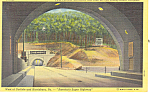 Twin Tunnels,Pennsylvania Turnpike Postcard