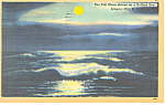 Moon on a Rolling Sea,Atlantic City,NJ Postcard
