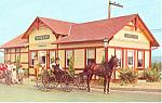 Strasburg railroad Depot, Strasburg,PA Postcard