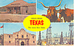 Hello from Texas,Four Views Postcard