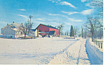 Amish Farm Scene in Winter Postcard p19437