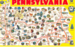 State Map of Pennsylvania