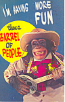 Click here to enlarge image and see more about item p19443: Comical Monkey with Banjo Postcard p19443