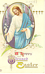 A Happy Blessed Easter Postcard p19485