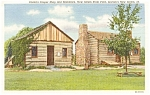 Click here to enlarge image and see more about item p1953: New Salem IL Onstot's Cooper Shop Postcard