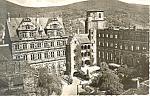 Heidelberg Germany, Blick in den Schlosshof RPPC