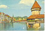 Lucerne Switzerland Chapel Bridge and Water Tower p19599