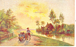 Click here to enlarge image and see more about item p19622: Village Express Artwork Card