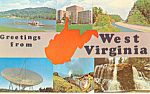 Click here to enlarge image and see more about item p19650: Greeting From West Virginia p19650