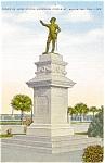 St Augustine FL Ponce de Leon Statue Postcard